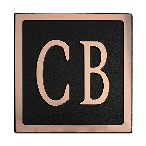 12-L-x-6-W-Medium-Oval-Custom-Plastic-Address-Plaque-Copper-on-Black-0-0