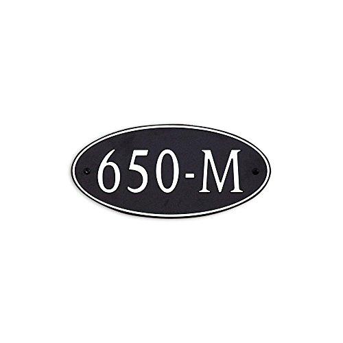12-L-x-6-W-Medium-Oval-Custom-Plastic-Address-Plaque-Copper-on-Black-0