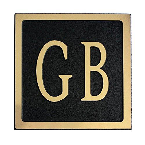 12-L-x-6-W-Medium-Oval-Custom-Plastic-Address-Plaque-Gold-on-Black-0
