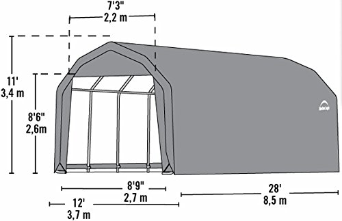 12x28x11-Barn-Shelter-Green-Cover-0-1