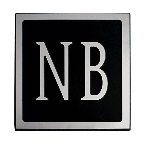16-L-x-8-H-Large-Rectangle-Custom-Plastic-Address-Plaque-Nickel-on-Black-0-0