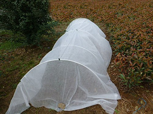 20FT-Long-Agfabric-Grow-TunnelMini-GreenhouseHoophouse-Tunnel-Kits-09oz-Row-Cover-and-Tunnel-Hoops-0-1