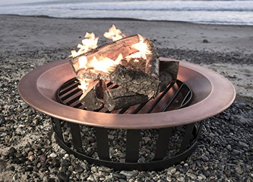 40-Solid-100-Copper-Fire-Pit-Bowl-Wood-Burning-Patio-Frontgate-Deck-Grill-0-0