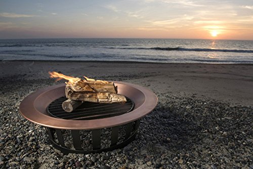 40-Solid-100-Copper-Fire-Pit-Bowl-Wood-Burning-Patio-Frontgate-Deck-Grill-0-1