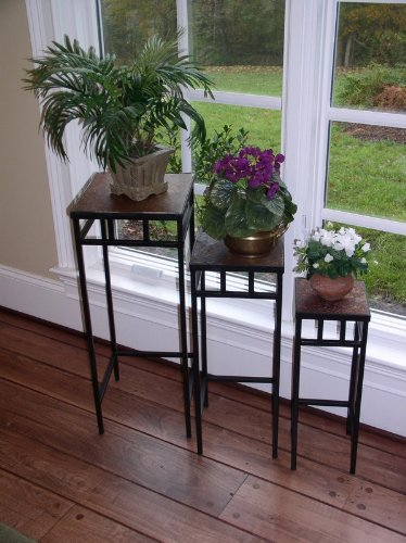 4D-Concepts-3-Piece-Slate-Square-Plant-Stands-with-Slate-Tops-Metal-Slate-0