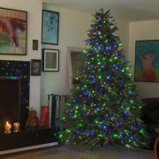 75-Tree-with-500-Multicolor-LEDs-and-6-Functions-Mixed-Pine-and-PVC-with-Cones-Total-1202-Tips-0
