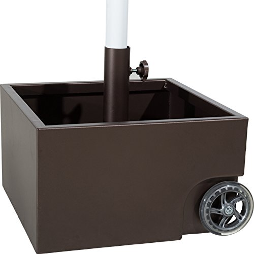 Abba-Patio-30lbs-Stainless-Steel-Sand-Filled-Square-Umbrella-BasePlanter-with-Two-Wheels-0