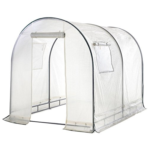 Abba-Patio-Walk-in-8L-x-6W-x-66H-Greenhouse-Fully-Enclosed-Lawn-and-Garden-Portable-Outdoor-Tent-with-Windows-White-0
