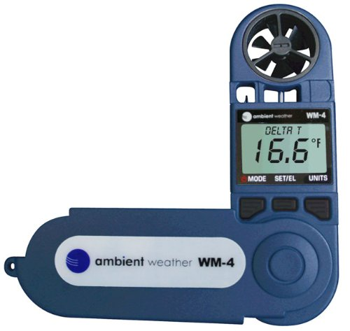 Ambient-Weather-WM-4-Handheld-Weather-Station-w-Windspeed-Direction-Temperature-Humidity-Compass-Dew-Point-Comfort-Index-Psychrometer-0-0
