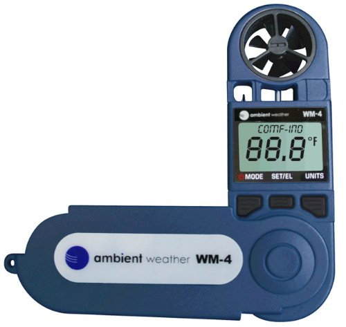 Ambient-Weather-WM-4-Handheld-Weather-Station-w-Windspeed-Direction-Temperature-Humidity-Compass-Dew-Point-Comfort-Index-Psychrometer-0-1