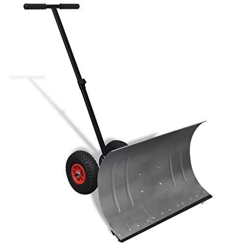 Anself-Heavy-Duty-Adjustable-Rolling-Snow-Pusher-5-Way-Adjustable-Handle-Snow-Shovel-with-10-Wheels-0