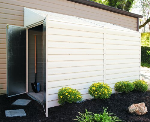 Arrow-Shed-YS410-A-Yard-Saver-4-Feet-by-10-Feet-Steel-Storage-Shed-0