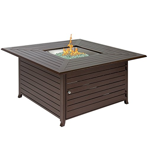 Best-Choice-Products-BCP-Extruded-Aluminum-Gas-Outdoor-Fire-Pit-Table-With-Cover-0-0