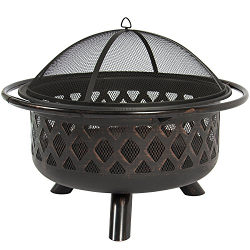 Best-Choice-Products-Bronze-Fire-Bowl-Fire-Pit-Patio-Backyard-Outdoor-Garden-Stove-Firepit-36-0-0