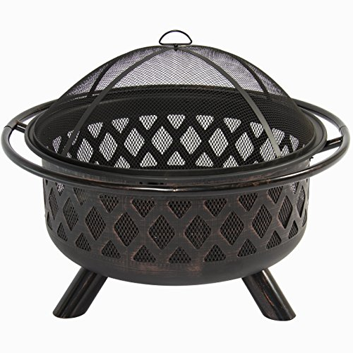Best-Choice-Products-Bronze-Fire-Bowl-Fire-Pit-Patio-Backyard-Outdoor-Garden-Stove-Firepit-36-0-1