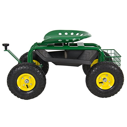 Best-Choice-Products-Garden-Cart-Rolling-Work-Seat-With-Tool-Tray-Heavy-Duty-Gardening-Planting-New-0-1