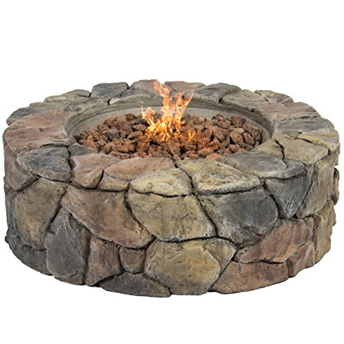 Best-Choice-Products-Stone-Design-Fire-Pit-Outdoor-Home-Patio-Gas-Firepit-0