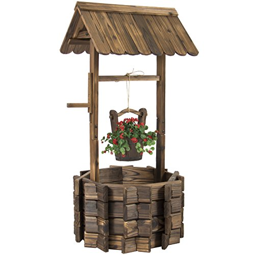 Best-Choice-Products-Wooden-Wishing-Well-Bucket-Flower-Planter-Patio-Garden-Outdoor-Home-Dcor-0
