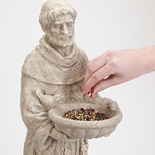 Bits-and-Pieces-Garden-Dcor-Durable-Polyresin-St-Francis-Bird-Feeder-Statue-26-in-Amazing-Sculpture-for-Your-Lawn-Garden-or-Patio-0-0
