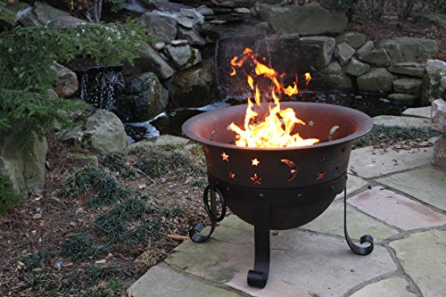 Catalina-Creations-29-Inch-Heavy-Duty-Cast-Iron-Celestial-Cauldron-Patio-Fire-Pit-with-Cover-and-Accessories-0-0