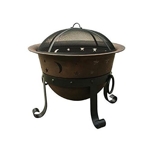 Catalina-Creations-29-Inch-Heavy-Duty-Cast-Iron-Celestial-Cauldron-Patio-Fire-Pit-with-Cover-and-Accessories-0
