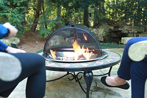 Catalina-Creations-40-Round-Heavy-Duty-Mosaic-Patio-Fire-Pit-with-Copper-Accents-Spark-Screen-and-Accessories-0-1