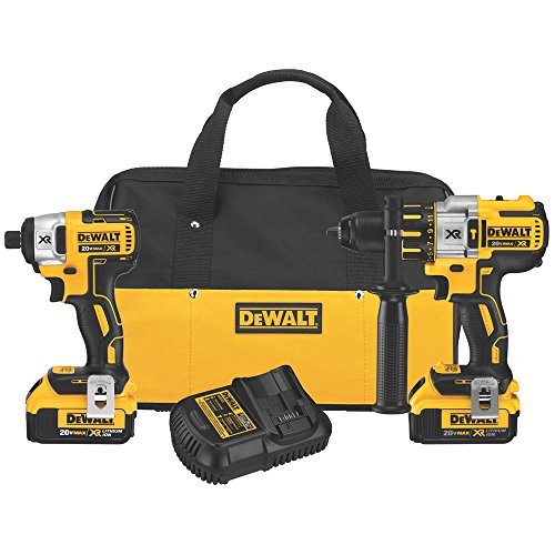 DEWALT-DCK296M2-20V-XR-Lithium-Ion-Brushless-Premium-Hammerdrill-and-Impact-Driver-Combo-Kit-0
