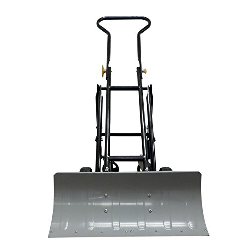 EasyGo-Folding-Four-Wheeled-Snow-Plow-Foldable-4-Wheel-Snow-Pusher-and-Thrower-Ergonomic-Prevents-Back-Pain-0-0