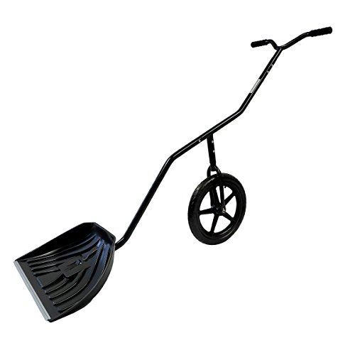 EasyGo-Snow-Lever-Adjustable-Height-Single-Wheeled-Snow-Thrower-Shovel-24-Wide-15-Deep-Concave-Shovel-Head-with-Easy-Rolling-16-Wheel-0