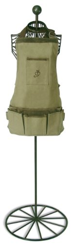 Esschert-Design-USA-4052-Secrets-du-Potager-Short-Nubuck-Cotton-Garden-Apron-Olive-Leaf-Color-0