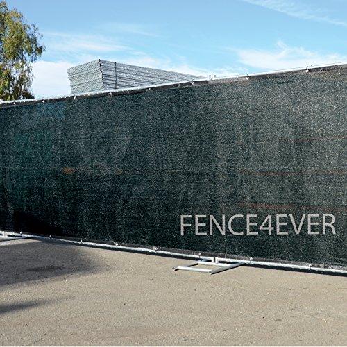 Fence4ever-8-x-50-3rd-Gen-Black-Fence-Privacy-Screen-Windscreen-Shade-Fabric-Mesh-Tarp-Aluminum-Grommets-0-0