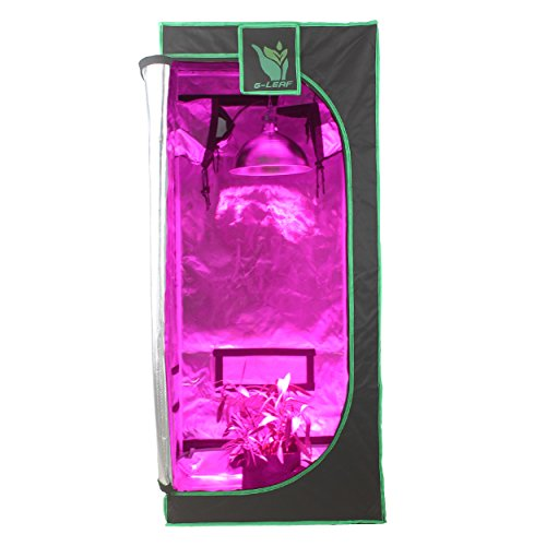 G-LEAF-100-Reflective-600D-Mylar-Window-Grow-Tent-24x24x56-Non-Toxic-Hydroponic-Indoor-Room-0