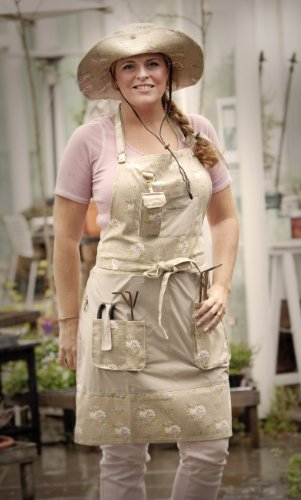 Garden-Girl-USA-Full-Gardening-Apron-One-Size-Roses-Tan-0-0