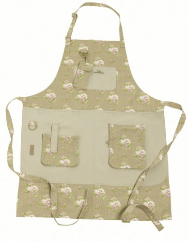 Garden-Girl-USA-Full-Gardening-Apron-One-Size-Roses-Tan-0