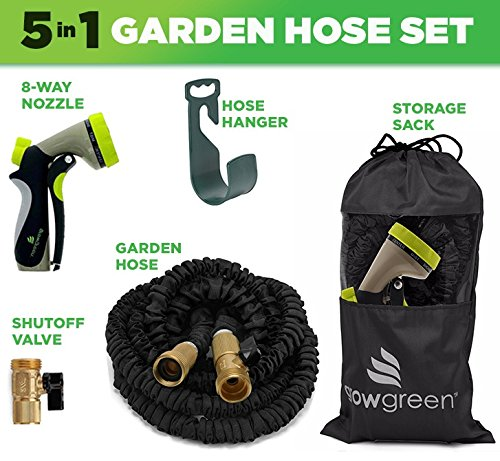 Garden-Hose-50-Ft-Heavy-Duty-Expanding-Water-Coil-Best-Flexible-Expandable-Retractable-Collapsible-Shrinking-Hoses-Strongest-Lightweight-Solid-Brass-Fittings-For-Grass-Dock-Warehouse-Gardner-Plants-0