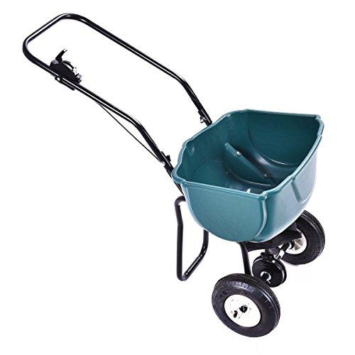 Giantex-65lbs-Weight-Capacity-Seed-Grass-Spreader-Fertilizer-Broadcast-Push-Cart-Lawn-Garden-Home-Backyard-0