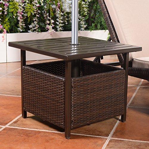 Giantex-Brown-Rattan-Wicker-Steel-Side-Table-Outdoor-Furniture-Deck-Garden-Patio-Pool-0-0