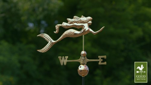 Good-Directions-649P-Mermaid-Weathervane-Polished-Copper-0-1