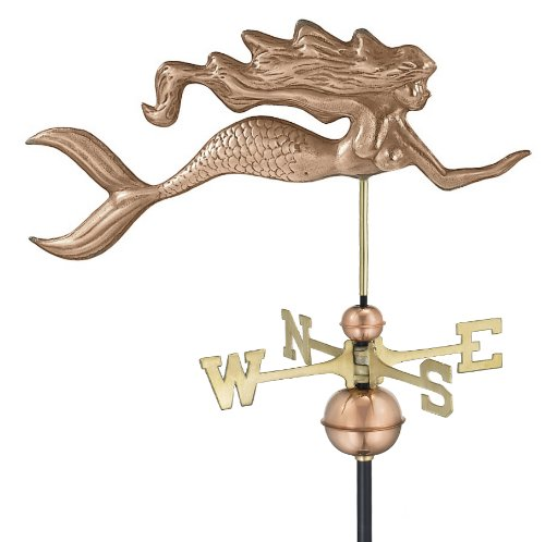 Good-Directions-649P-Mermaid-Weathervane-Polished-Copper-0