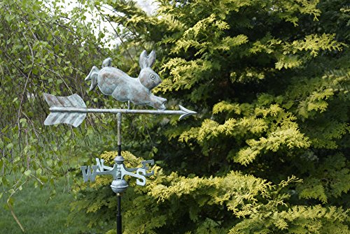 Good-Directions-809V1G-Rabbit-Garden-Weathervane-Blue-Verde-Copper-with-Garden-Pole-0-0