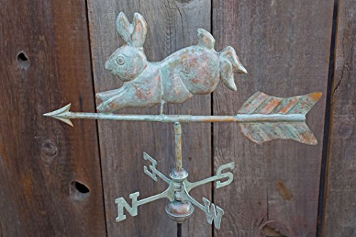 Good-Directions-809V1G-Rabbit-Garden-Weathervane-Blue-Verde-Copper-with-Garden-Pole-0-1