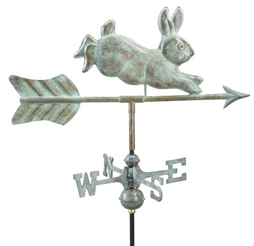 Good-Directions-809V1G-Rabbit-Garden-Weathervane-Blue-Verde-Copper-with-Garden-Pole-0