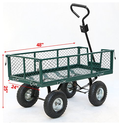 Gotobuy-Wagon-Cart-800-LB-Capacity-Utility-Heavy-Duty-Yard-Garden-Home-0-0