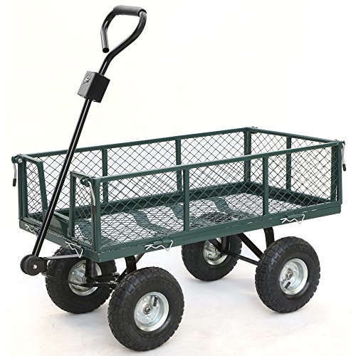 Gotobuy-Wagon-Cart-800-LB-Capacity-Utility-Heavy-Duty-Yard-Garden-Home-0