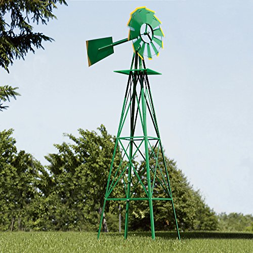 Green-and-Yellow-8-Ft-Ornamental-Windmill-0-1