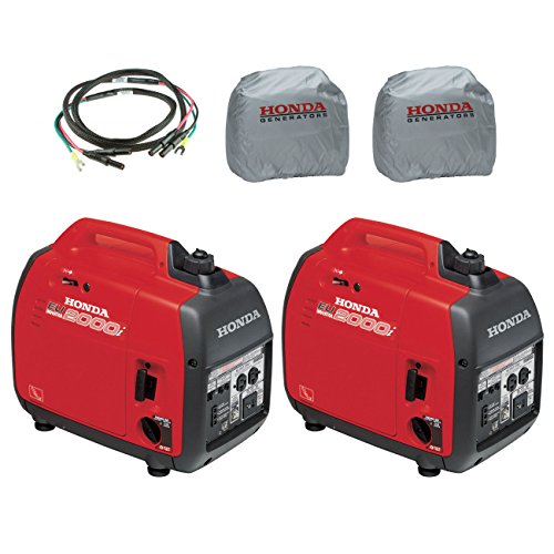 Honda-2-EU2000i-2000W-Generator-with-Inverter-2-Silver-Cover-Parallel-Cord-0