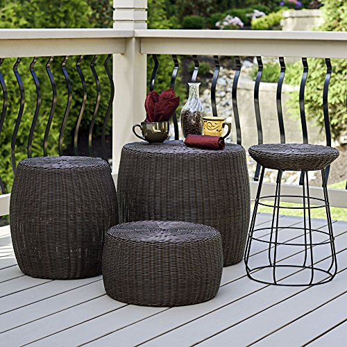 Household-Essentials-Resin-Wicker-Barrel-Table-0-0
