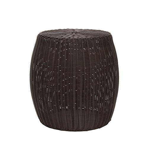 Household-Essentials-Resin-Wicker-Barrel-Table-0