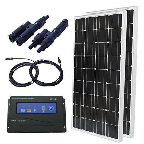 Komaes-200-Watts-12-Volts-Monocrystalline-Solar-Starter-Kit-0