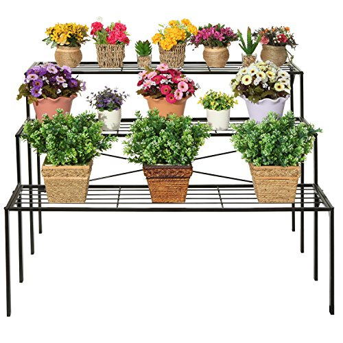 Large-Modern-Black-Metal-3-Tier-Shelf-Flower-Plant-Display-Stand-Rack-Freestanding-Home-Decor-Shelves-0-0